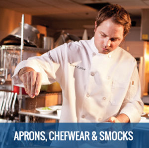 APRONS, CHEF-WEAR & SMOCKS